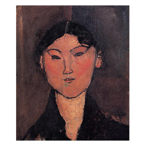woman head, rosalia? by amedeo modigliani