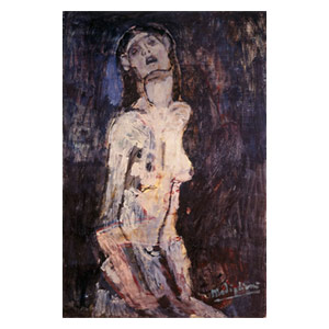 nude  on pain by amedeo modigliani
