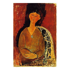 beatrice hastings seated by amedeo modigliani