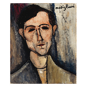 man head by amedeo modigliani