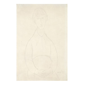 Portrait of a Young Woman, pencil c. 1919