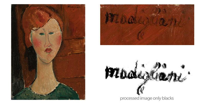 woman with red hair amedeo modigliani 1917 signature