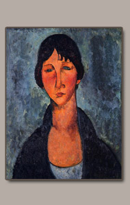 the blue blouse or le corsage bleu by amedeo modigliani