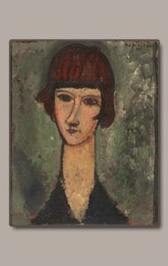 femme au corsage blue by amedeo modigliani