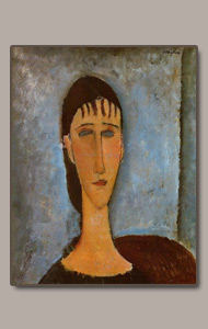 young girl - elvira - by amedeo modigliani