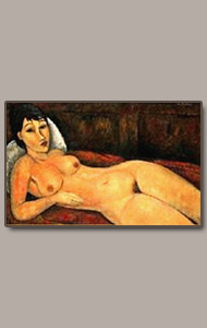 resting nude by amedeo modigliani