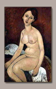 seated nude by amedeo modigliani