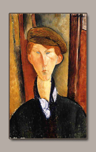 boy with cap or garcon ala casquette by amedeo modigliani