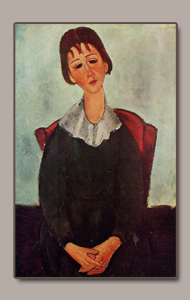 mademoiselle Huguette or seated girl by amedeo modigliani