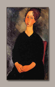 the servant gurl by amedeo modigliani