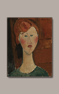 FEMME AUX CHEVEUX ROUGES, GINGER HAIR WOMAN BY AMEDEO MODIGLIANI