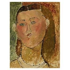 woman loose hair amedeo modigliani