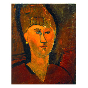 woman red head amedeo modigliani