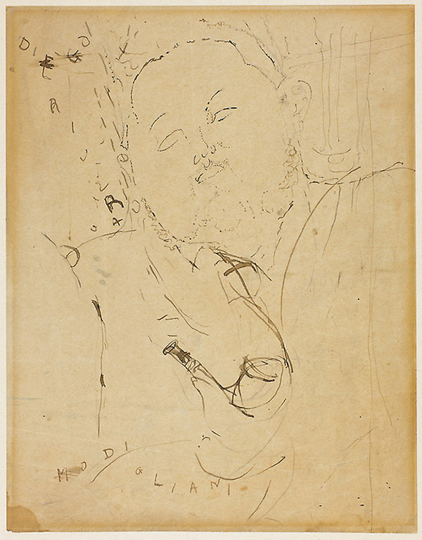 sketch for diego rivera portrait