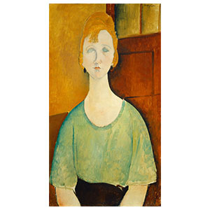 WOMAN BUST, THE GREEN BLOUSE LE CORSAGE VERT BY AMEDEO MODIGLIANI