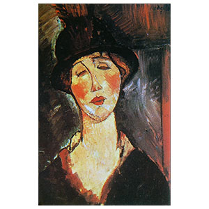 mme. cheron with hatamedeo modigliani