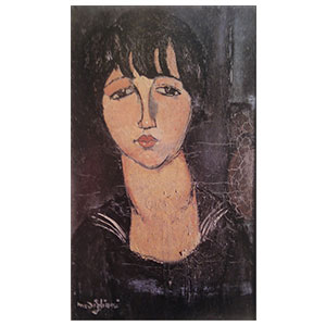 girl with sailor neck by amedeo modigliani