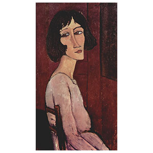 marguerite seated in profile by amedeo modigliani