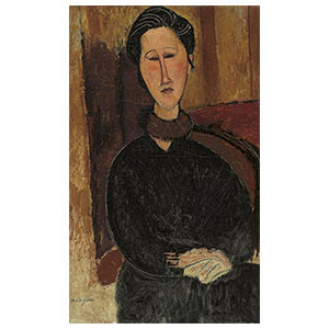 Hanka Zborowska seated amedeo modigliani