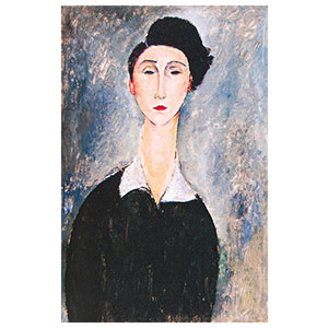 Woman black hair amedeo modigliani