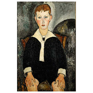 boy in sailor suit or boy with white collar, garÇon au coll blanc by amedeo modigliani