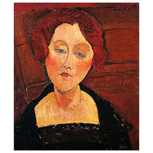 red head woma with blue eyes amedeo modigliani
