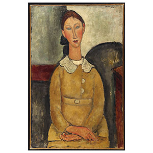 woman in yellow amedeo modigliani