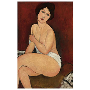 seated nude or la belle romaine by amedeo modigliani