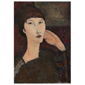 WOMAN HEAD OR ADRIENNE BY AMEDEO MODIGLIANI