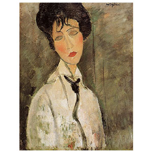 Woman with black tie  amedeo modigliani