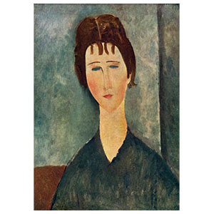 PAINTINGS with color lines in  BACKGROUND BY AMEDEO MODIGLIANI