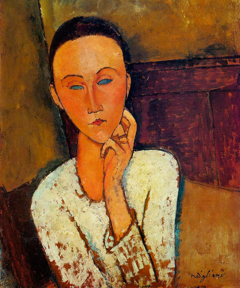 LUNIA CZECHOWSKA HAND ON CHIN  BY AMEDEO MODIGLIANI