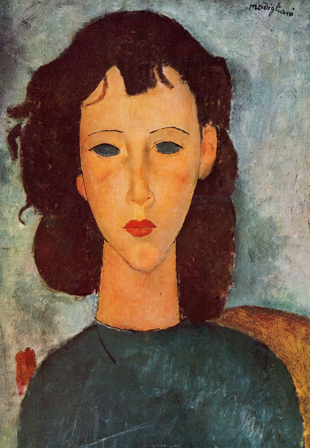 GIRL BY AMEDEO MODIGLIANI