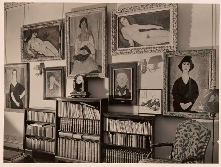 The painting framed in location at the Chester Dale home in New York, Ca. 1940