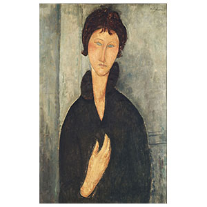 Woman with blue eyes amedeo modigliani