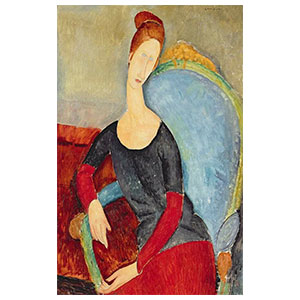 Jeanne Hébuterne seated in an armchair amedeo modigliani