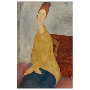 Jeanne Hébuterne with a yellow sweater amedeo modigliani