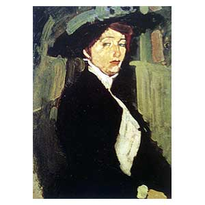 woman with hat amedeo modigliani