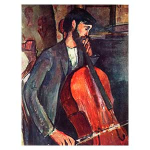 Cello player studio amedeo modigliani