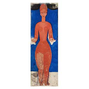 Standing nude arms open amedeo modigliani