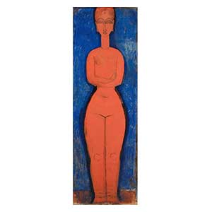 Standing nude arms closed amedeo modigliani