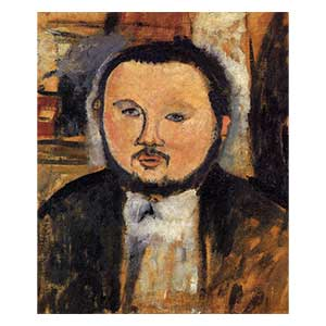 study for Diego rivera portrait by amedeo modigliani